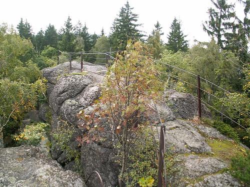 Dawny punkt widokowy na Bobrowych Skałach