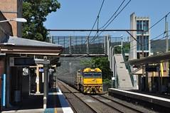 An eagle lands at Emu Plains (highplains68) Tags: railroad rail railway australia nsw newsouthwales aus indianpacific sydneytrains westernline nr28 emuplains nrclass dlclass mainwest dl42 3as8