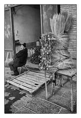 Broom-Maker (Tom Levold (www.levold.de/photosphere)) Tags: street portrait bw man fuji iran porträt sw mann esfahan isfahan brooms besen broommaker xt1 besenbinder fujixt1
