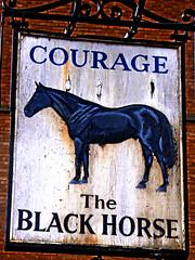 Black Horse (Draopsnai) Tags: southwark blackhorse courage pubsign greatdoverstreet
