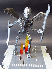 It came from Down Under (monsterbrick) Tags: skeleton fire lego hell hellish demon bionicle moc