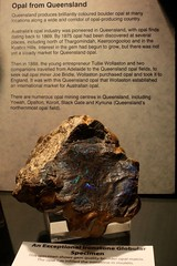 Opal From Queensland (Piedmont Fossil) Tags: rock museum sydney australia collection national rough opal gem gemstone