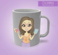 caneca PAtricia (Solangedanielle) Tags: visual logotipo facebook carimbo identidade mascotes empreendedores criativos artedocartodevisita