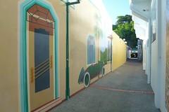 Mural In Lane Way (gec21) Tags: newzealand mural panasonic nz artdeco napier hawkesbay 2015 dmctz20
