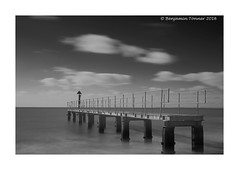 Alum Bay for half a minute. (frattonparker) Tags: longexposure monochrome jetty tripod isleofwight tamron 28300mm englishchannel lamanche tamron28300mm remoterelease cs6 nikond600 bw10stopndfilter tenstopndfilter dxo8 btonner frattonparker