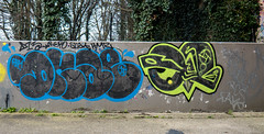 Dkae CBM 1T (cocabeenslinky) Tags: street city uk blue england urban streetart black london art yellow lumix photography graffiti artist photos united capital fame kingdom east panasonic graff february eastend artiste rcs 2016 cbm dkae 1t dmcg6 cocabeenslinky