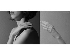 /2 (Laujola_) Tags: portrait bw woman self hands body touch
