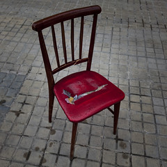 Broken (Julio Lpez Saguar) Tags: madrid street red urban espaa broken calle spain rojo chair silla urbano concept segundo roto alcorcn concepto juliolpezsaguar