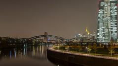 night walk..... (Henry der Mops) Tags: city skyline night skyscraper lights frankfurt main lichter nachtaufnahme langzeitbelichtung osthafen nachthimmel img3798 canonlens24105mm canoneos6d henrydermops mplez