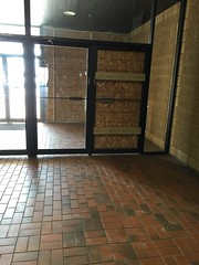 Lakeshore Mall Entry- Manitowoc, WI (MichaelSteeber) Tags: door building broken glass wisconsin mall store empty vacant plywood manitowoc lakeshoremall edgewaterplaza