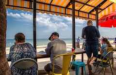 Breakfast-by-the-Bay (keithob1) Tags: color colour beach clouds cafe breakfasst