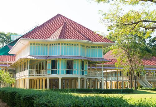 Cha-am,Phetburi-Jan21,2016:Building of Maruekhathaiyawan Palace, Huahin Chaam, Phetchaburi,Thailand on 21 January 2016