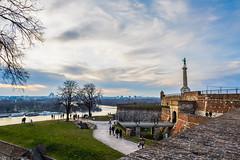 Belgrade (milosb014) Tags: sunset sky clouds river outdoor victor belgrade fortress danube sava kalemegdan pobednik