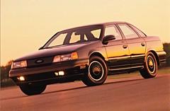 1990 Ford Taurus SHO (aldenjewell) Tags: ford postcard taurus sho 1990