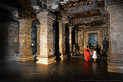 MAGNIFICENT ELLORA CAVES (GOPAN G. NAIR [ GOPS Photography ]) Tags: india temple photography caves shiva hindu ajanta ellora gops kailasa gopan gopsorg gopangnair gopsphotography