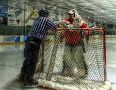 Ste-Anne Senior Aces - Manitoba - On The Job (ezigarlick) Tags: canada hockey goalie official manitoba goaltender cshl steanne steannesenioraces carillonseniorhockeyleague