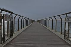 Puente al infinito/Bridge to infinity (Santini1972) Tags: bridge sky lines fog puente alone infinity cielo soledad parallel infinito niebla badalona paralelo