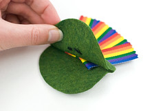 End of the Rainbow Felt Charm (wildolive) Tags: rainbow craft felt charm kawaii stpatricksday potofgold wildolive