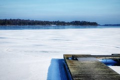 Swim anyone? (jtunkelo) Tags: ice finland march helsinki balticsea itmeri maaliskuu vuosaari 2016 kallahti snapseed