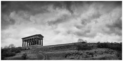 Penshaw Monument(5) (S.R.Murphy) Tags: england sky blackandwhite bw cloud building monochrome architecture mono ngc nationaltrust urbanlandscape sunderland penshaw penshawmonument whiteandblack greekcolumn canon24105mm leefilters canon6d niksilverefexpro greekfolly feb2016