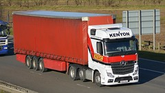 DK64 RHZ (panmanstan) Tags: truck wagon mercedes motorway yorkshire transport lorry commercial vehicle mp4 m62 actros