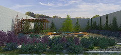 Minimalist Garden. Front perspective view