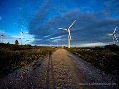Windmill road (Sailor Alex) Tags: france landscape windmills giants windpower windgeneration languedocroussilon
