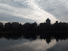 Morning Walk in Central Park-March 2016 (aloucha) Tags: park nyc newyorkcity winter shadow newyork reflection nature skyline canon outdoors march centralpark manhattan reservoir urbannature 2016 g16
