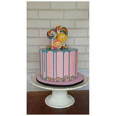 Katherine Sabbath inspired drip cake (ldeandyment) Tags: pink blue confetti drip sprinkles lollipops kidscake katherinesabbath