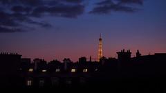 Summer Night (hebiflux) Tags: city blue roof sky urban paris france building architecture clouds ledefrance cityscape rooftops eiffeltower eiffel 500px ifttt