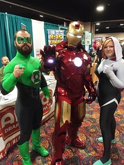 An Awesome Trio of Family Cosplayers (ihatepeacocks) Tags: colorado cosplay ironman denver cosplayer comiccon rmc cosplayers greenlanter 2015 spidergwen rmc2015 rockymountaincon