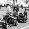 mobility | Mobilität (alexhesse.de) Tags: streetphotography wochenmarkt oldenburg electromobil documentary blackwhite seniors weeklymarket bnw monochrome people menschen