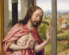Juan de Flandes, Christ Appearing to His Mother, c 1496 (DeBeer) Tags: newyork art museum painting flemish metropolitanmuseum rogiervanderweyden lategothic 1490s 1496 juandeflandes 15thcenturyart hispanoflemish 15thcenturypainting