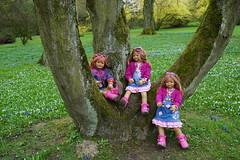 Kindergartenkinder auf der Frhlingswiese ... (Kindergartenkinder) Tags: park essen dolls outdoor sony pflanze feld wiese blumen blume landschaft annette tivi gruga himstedt annemoni kindergartenkinder sanrike