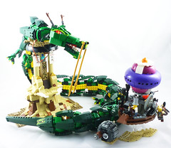 LEGO Adventures of Guy Steamie and Martin Moon (Umm, Who?) Tags: moon guy dragon martin oriental steampunk steamie himber