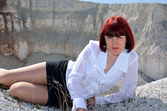 DCS_0038 (dmitriy1968) Tags: portrait cliff nature girl beautiful erotic outdoor wife quarry    sexsual