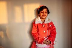 ... (Saptak Ganguly) Tags: light portrait smile childhood child shy