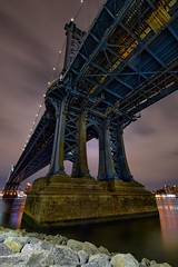Bridge bones (karinavera) Tags: longexposure travel bridge night cityscape manhattan under underneath nikond5300