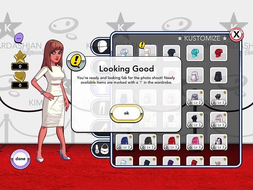 Kim Kardashian: Hollywood Upgrades, Profile & Avatar: screenshots, UI