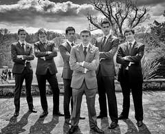 Rob, the groom and his squad (clairehalas) Tags: wedding portrait fun groom