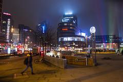 Oslo by night (kjelljoran) Tags: oslo norway night norge oslos kveld oslocity jernbanetorget osloplaza sentralstasjon tbanen byporten