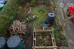 Looking Down on the Front Garden - March 2016 (basswulf) Tags: uk england unmodified lenstagged oxford compost 32 1855mmf3556g frontgarden compostbin d40 3008x2000 permissions:licence=c image:ratio=32 201603 normcres lookingdownonthegarden 20160326