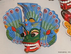 "Look at the eyes!! - Traditional Sri Lankan Raksha Mask (WanderingPJB) Tags: masks ""smileonsaturday"" blue srilanka mask traditional rakshamask raksha colour colourful cmwdblue colourfulworld 7dwf"