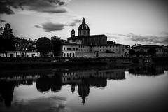 Chiesa Cestello (VioletHippie) Tags: sky cloud love florence nuvole fiume chiesa firenze arno amore paesaggio specchio riflesso curch cestello