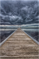 Take a short walk off a long pier (RissaJT_23) Tags: storm weather clouds canon boats pier jetty australia stormy australianlandscape stormyweather geelong geelongwaterfront coriobay canon1740mm canon6d cityofgreatergeelong canoneos6d