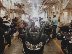 Motorcycles in the Belly of the Ferry (whataride247) Tags: motorcycletouring