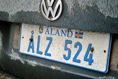 Aland (Helvetics_VS) Tags: licenseplate aland