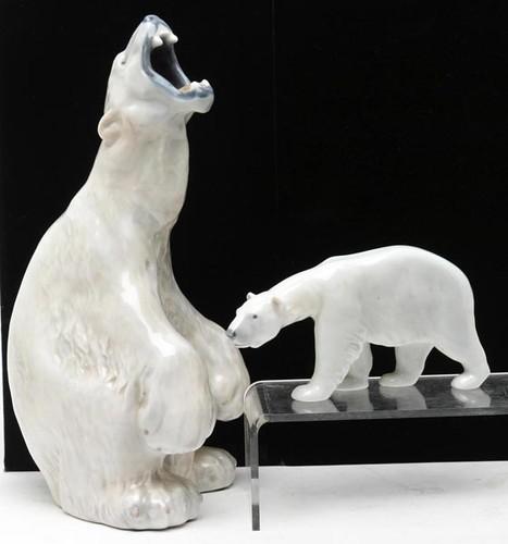 Royal Copenhagen Porcelain Polar Bears ($132.00, $55.00)
