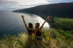 Waipio Beach View (Hawaii Travel Photos) Tags: ocean beach hawaii valley bigisland waipio hamakua