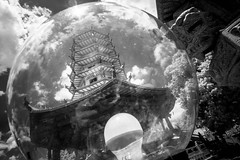 Pagoda (Henry Sudarman) Tags: blackandwhite bw building architecture indonesia temple pagoda place samsung traveling semarang vihara ircamera holyplace arsitektur hitamputih samsungnx nx10 harlimirv93